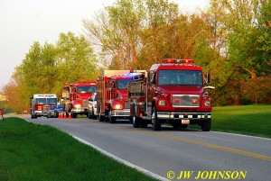 Cuba, Beautfort, and Gerald Pumpers Staging On Scene