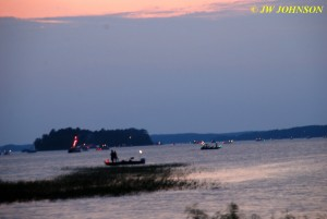 Boats Gather on Lake Before Fireworks Show