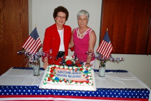 Mom and Vanessa With Cake