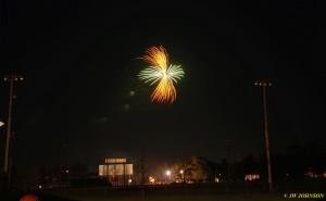 Gold and Green Pinwheel