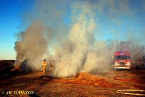 Burning Bales Relocated Near 854