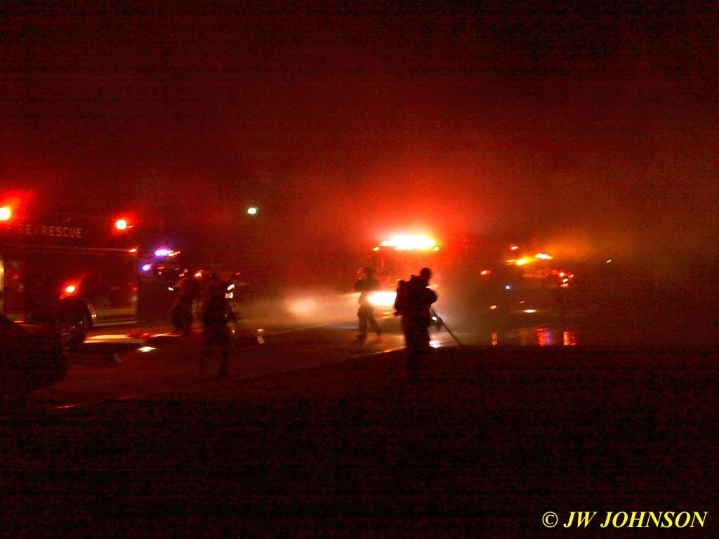 15 Fire Trucks In Front