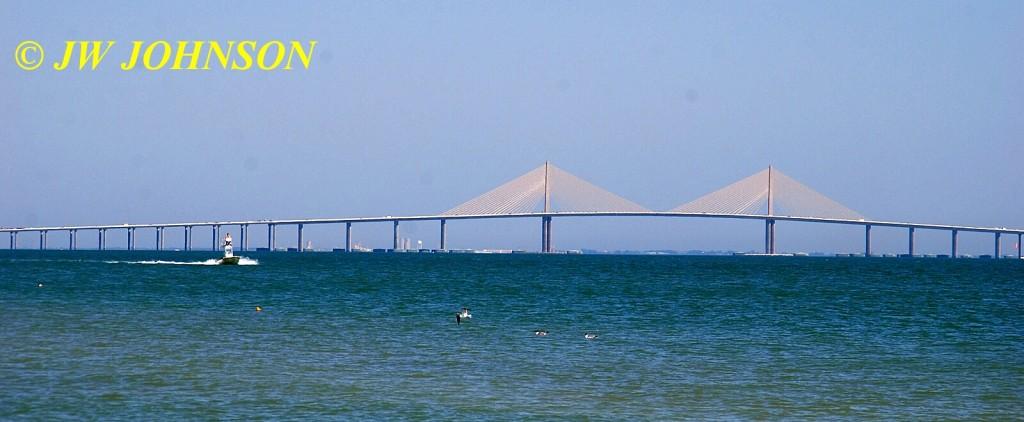 Sunshine Gateway Bridge and Speedboat
