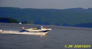 144 DJ Speeds Across Lake