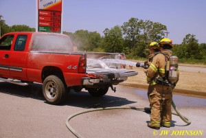 Stetson and Drew Extinguish Fire
