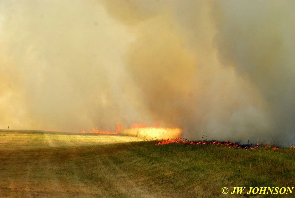 13 Field Fire Explodes in Strength