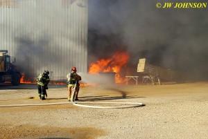 13 Fire Intensifies