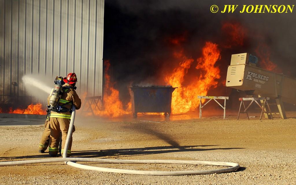 14A   Heavy Fire Fed By Diesel Fuel