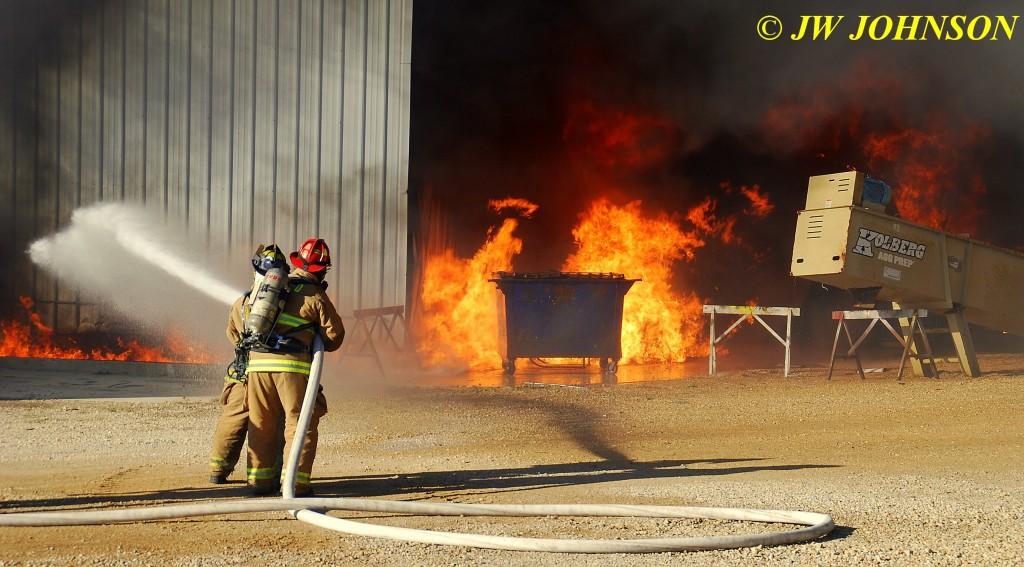 15A   Heavy Fire Fed By Diesel Fuel