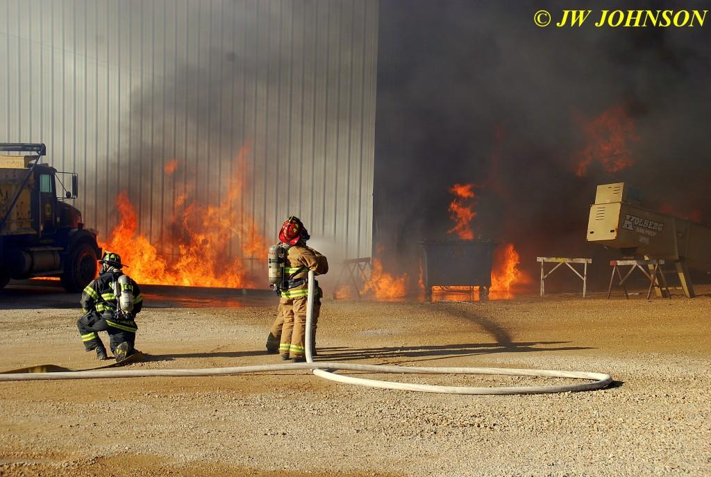 17 Heavy Fire Fed By Diesel Fuel