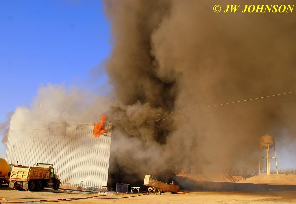 33A  Fire Rages Inside Seeks Escape