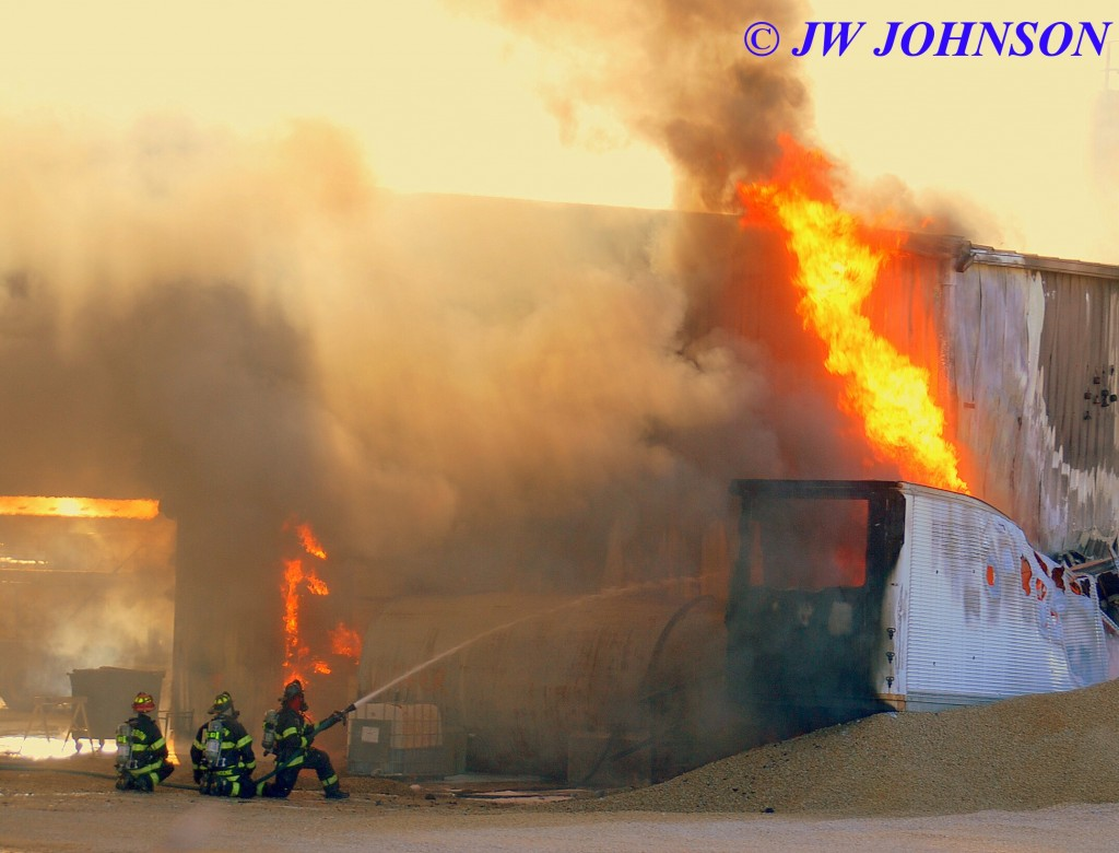 49A   BFD Crews Attack Trailer Fire