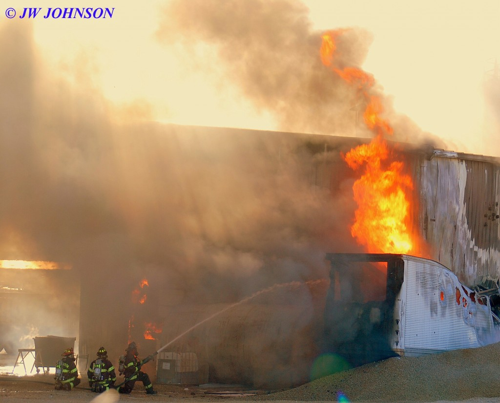 49C   BFD Crews Attack Trailer Fire