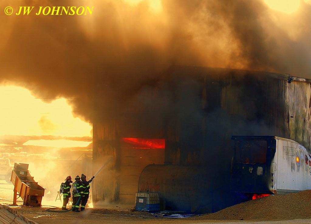 51A  Fire Rolls Out Garage Door