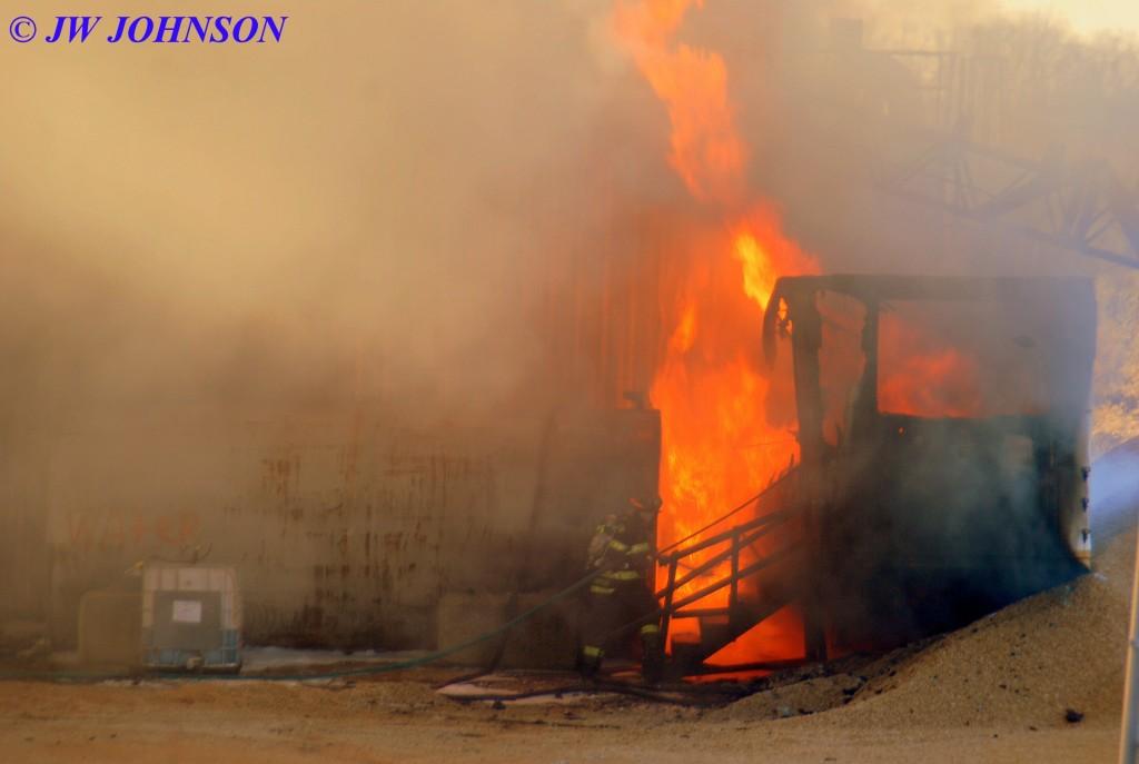 58 Firefighters Approach Heavy Fire