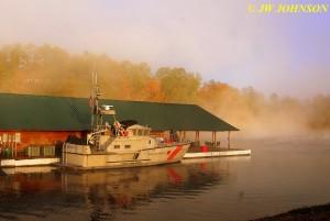 Fireboat in Fog