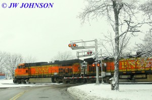 BNSF at Elmont Crossing