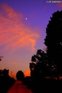0902 Moon Above Sunset