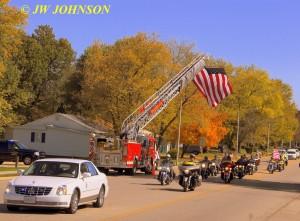 21 Funeral Escort Leaving Sullivan