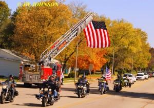 22 Funeral Escort Leaving Sullivan