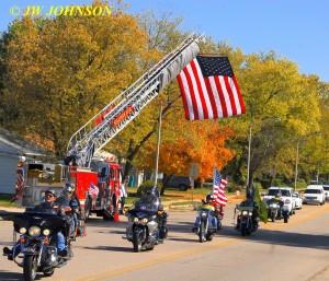 23 Funeral Escort Leaving Sullivan