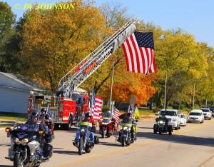 24 Funeral Escort Leaving Sullivan