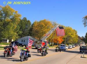 26 Funeral Escort Leaving Sullivan