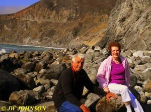 Brian & Mom at Willow Creek Beach 0919