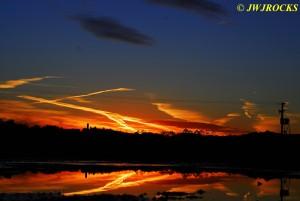Sun Sets Over Quarry 2