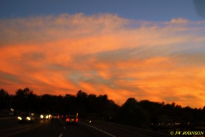 01 Enroute Lake Hamilton Sunset