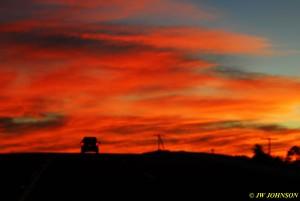 04 Enroute Lake Hamilton Sunset