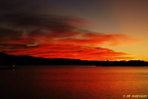 05 Arrived Lake Hamilton Sunset