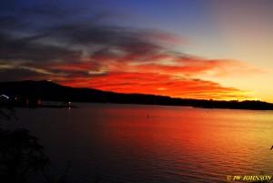 08 Arrived Lake Hamilton Sunset