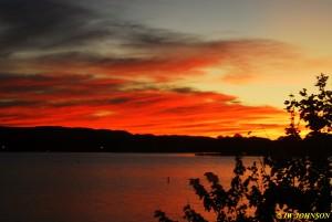 10 Arrived Lake Hamilton Sunset