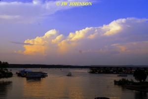 00A Thunderhead As Sun Sets