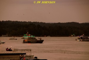 00H Sunset Fireboat Goes Out Into Harbor