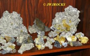 11 Pyrite & Chalco Calcite Pieces