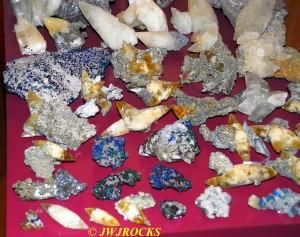 15 Pyrite & Chalco Calcite Pieces