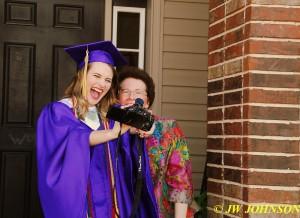 18 Grad Takes Selfie With Nana Anna
