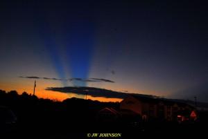 0913 Sunbeams Sunset
