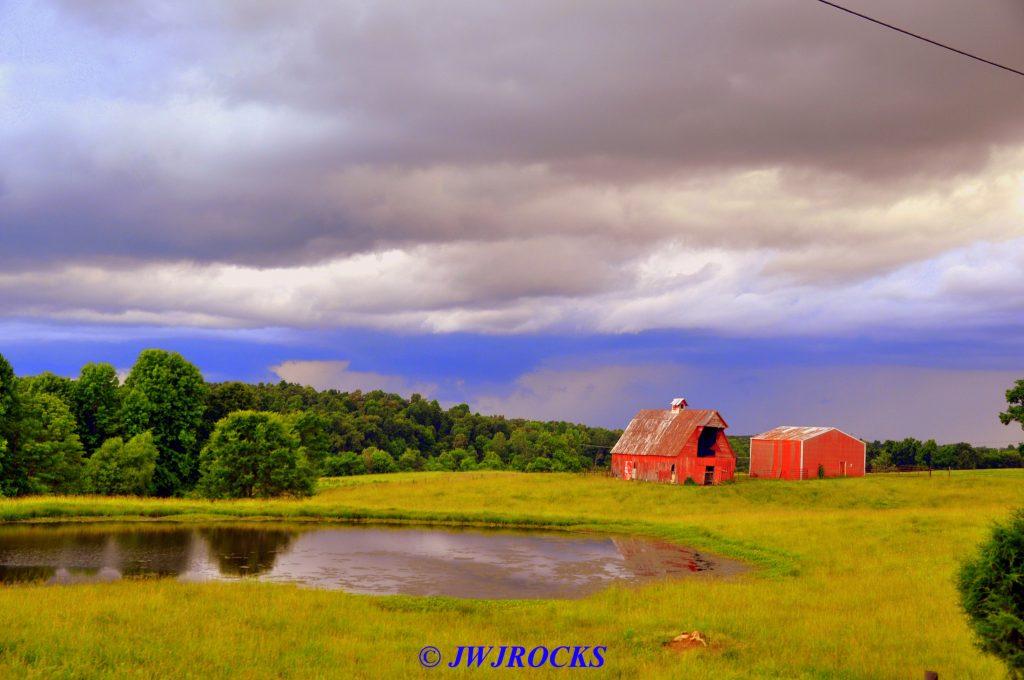 34 Storm Behind Horse Barns